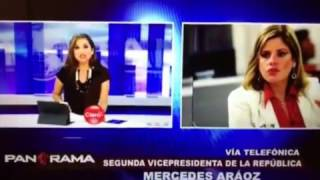 Mercedes Araoz HISTÉRICA con Rosana Cueva en Panorama 12/03/2017