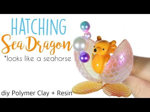 How to DIY Hatching Sea Dragon/Seahorse Polymer Clay/Resin Tutorial