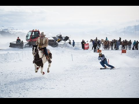 Skijoring In Jackson Hole - Click In And Hang On For The Ride
