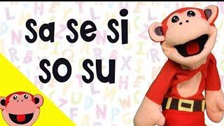 Aprender a Leer con El Mono Sílabo. SA SE SI SO SU . Videos educativos para niños. Lunacreciente