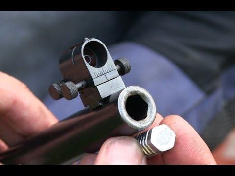 environ 111.76 cm Parker Hale fusil Rod .22 Femelle Gris Tige Poignée Rouge 44 in