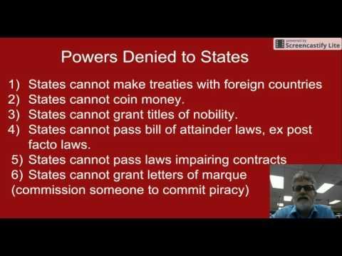 Powers Denied to States