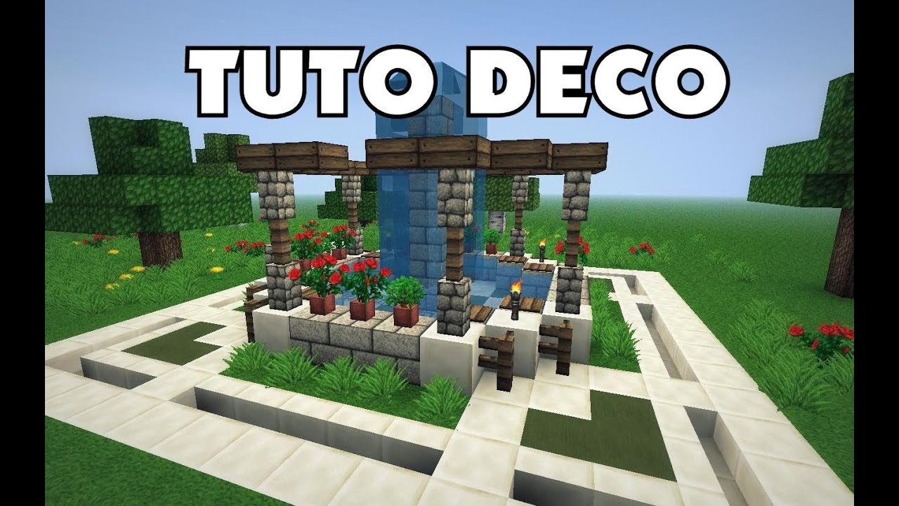 Minecraft comment cr er une belle fonta ne youtube - Decoration exterieur jardin moderne ...