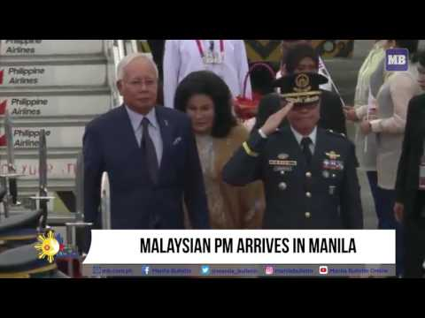 Malaysian PM arrives in Manila