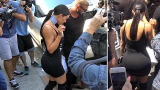 Super Skinny Kim Kardashian Sparks Chaos Shopping On Melrose On Kylie