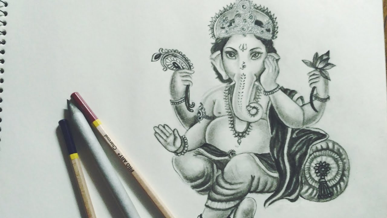Ganpati bappa ganesha drawing how to draw ganesha diwali special diy art