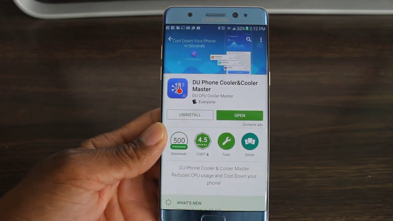 Android Battery App (DU Phone Cooler) - YouTube