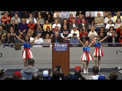 'Freedom Kids' Sing Donald Trump Theme Song At Campaign Rally