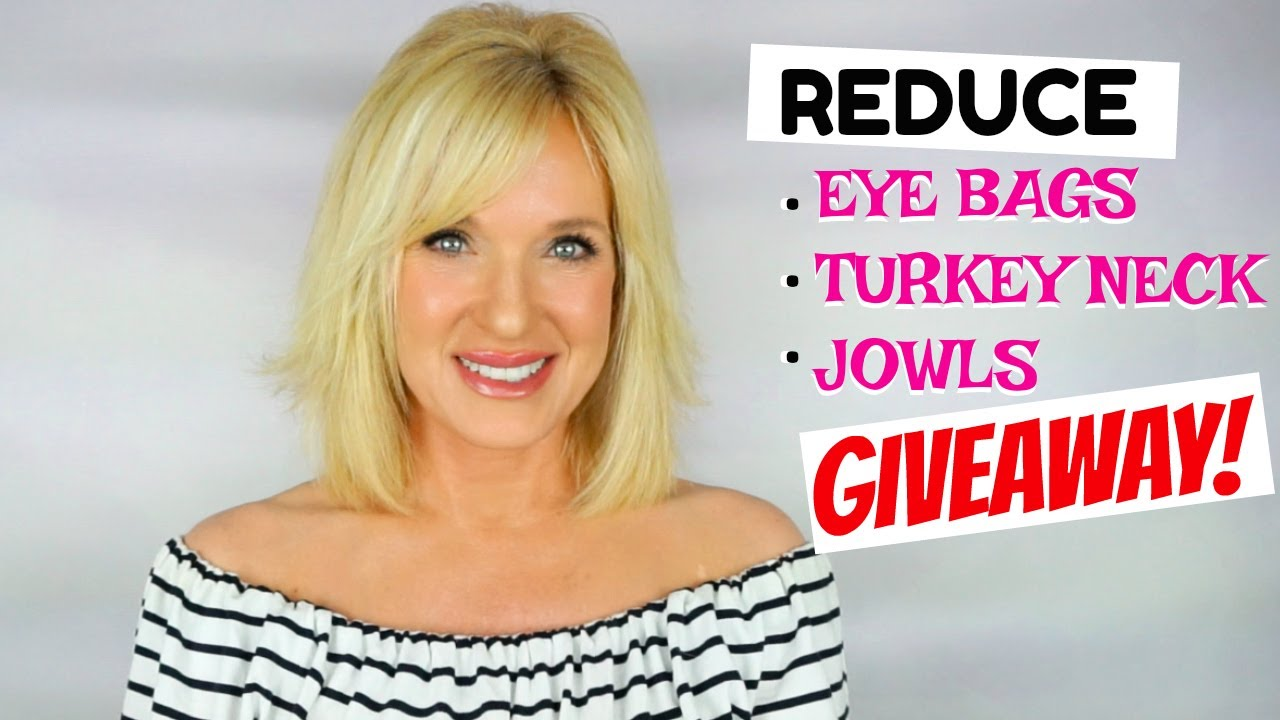 giveaway! reduce eye bags, jowls & turkey neck!