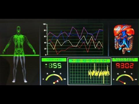 Messung des gesamten Körper mit dem Bio Scan