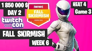Fortnite Fall Skirmish Week 6 Heat 4 Game 3 Highlights - Fortnite TwitchCon 2018 Day 2