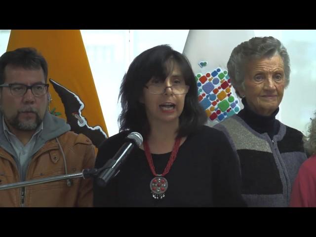 Rueda de Prensa -Gina Gina Benavides Llerena -Defensora del Pueblo
