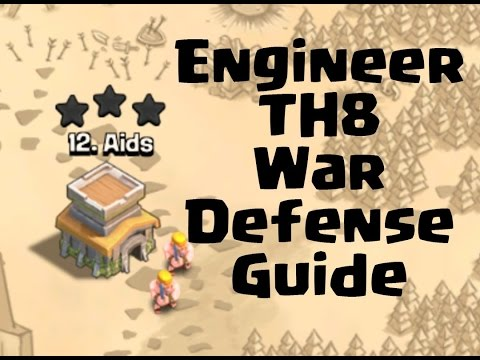 Clash of clans- Engineer Base Design(Th8)