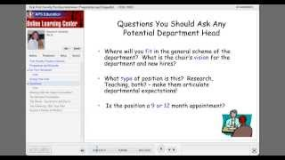 That First Faculty Position Interview: Preparation and Etiquette! thumbnail