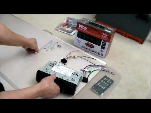 Boss 625uab Radio Stereo Installation For