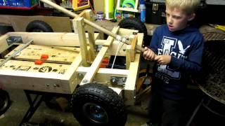Wooden Go Kart Steering