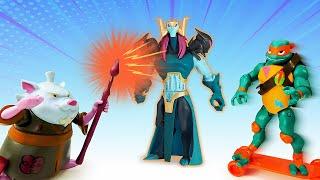 Черепашки Ниндзя и новый Мутаген! – Онлайн видео игры для мальчиков.  Супер Ниндзя против Драксума
