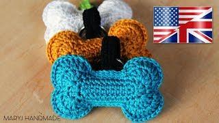 Crochet Dog Bone | applique | amigurumi | MARYJ HANDMADE