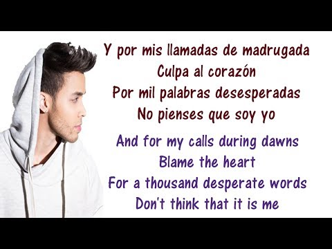 Prince Royce - Culpa Al Corazón Lyrics English and Spanish - Translation & Meaning - Blame the heart