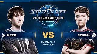 Neeb vs Serral PvZ - Quarterfinals - WCS Summer 2019