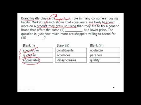 New GRE Verbal Practice: Text Completion - Example 1 - YouTube