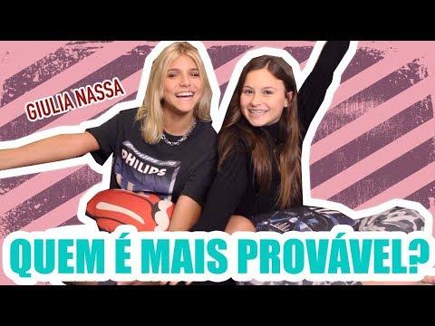 QUEM É MAIS PROVÁVEL ft GIULIA NASSA  Rafa Gomes