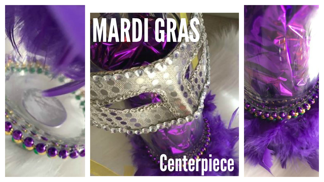 Mardi Gras Centerpiece Diy Dollar Tree Decoration Idea Youtube