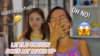 MY LITTLE COUSIN DOES MY MAKE UP ( LAPTRIP HAHAHA ) | ALLE NICOLE