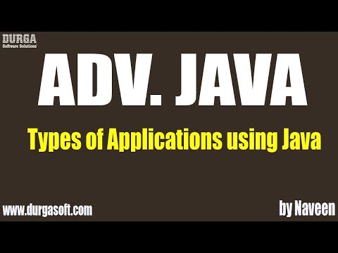 adv-java-types-of-applications-using-java