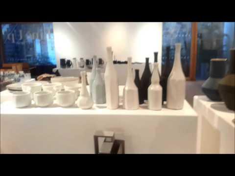 Line Up exhibition set up-Devon Guild of Craftsmen January 2016