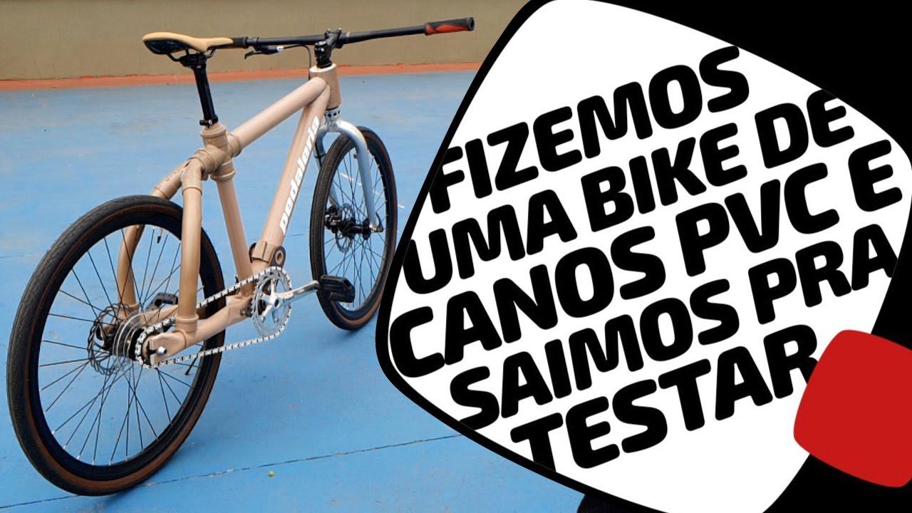 Montamos e testamos a bike de PVC. Parte 2. Pedaleria