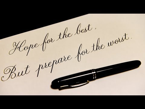 ASMR Fountain pen Hope for the best and prepare for the worst