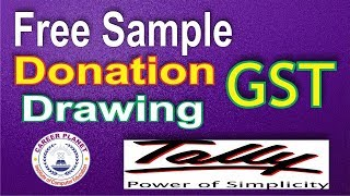 Gst On Free Sample, Donation, Drawings In Tally Erp 9 Part 33|free Supply In Gst Tally