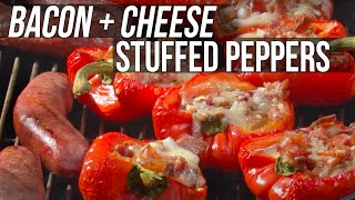 Bacon &amp Cheese Stuffed Peppers by the BBQ Pit Boys