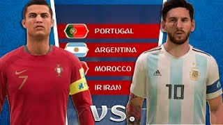 What If MESSI and RONALDO were in the SAME World Cup Group? - FIFA 18 World Cup Career Mode
