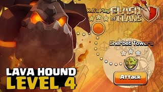 9 LAVA HOUNDS NIVEL 4 CONTRA ULTIMA FASE DOS GOBLINS! CLASH OF CLANS