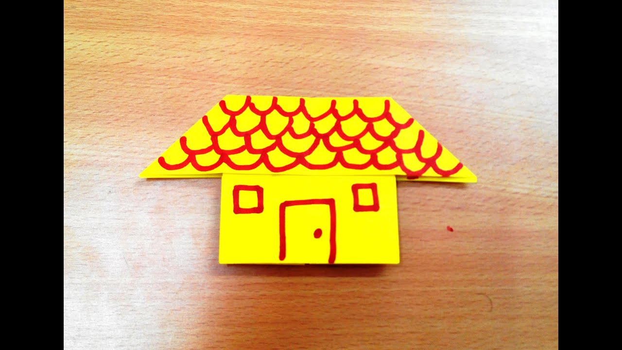 How To Make An Origami House Step By