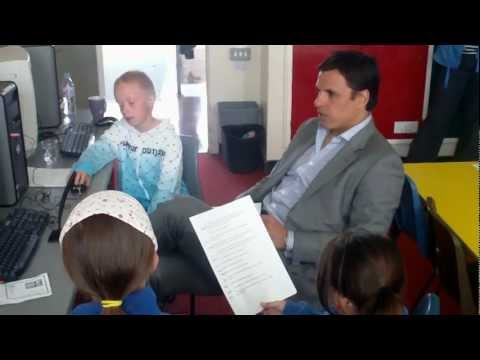 Chris Coleman Interviewed by Primary School Students