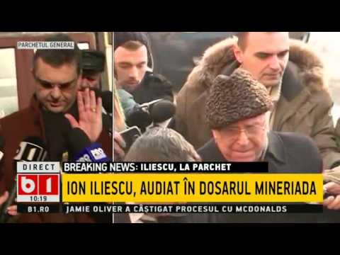 Ion Iliescu la parchet: NU MA SIMT VINOVAT