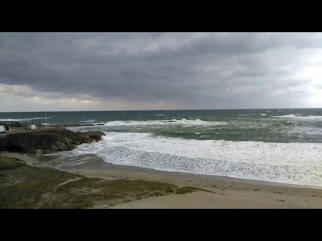 El temporal empieza a notarse en Burela