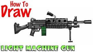 How to Draw Light Machine Gun | Fortnite