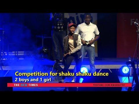 Rwandans competing for shaku shaku dance from Nigeria