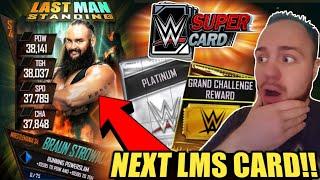 BRAUN STROWMAN LMS EVENT WWE SuperCard S4 WrestleMania 34 Platinum Pack Opening Challenge Packs