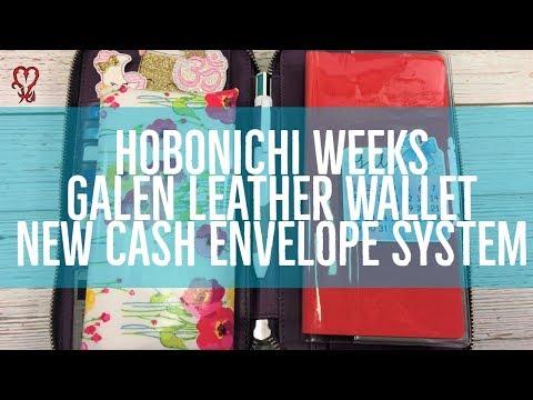 NEW Cash Envelope System   Hobonichi Weeks   Galen Leather Wallet   Hobonichi Cover