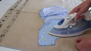 Как сшить распашонку для новорожденного. How to sewwing baby's loose jacket.