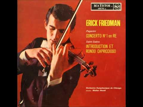 Niccolò Paganini Violin Concerto No 1  Erick Friedman violinist, Chicago Symphony Orchestra