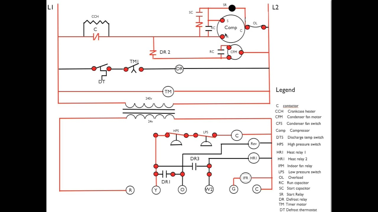 central heating wiring diagram 2 pumps solid liquid gas phase heat pump call for 1stage sequence youtube