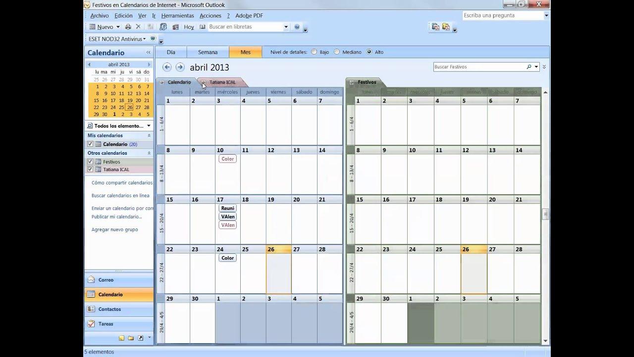 Sincronizzare Calendario Gmail Con Outlook.Sincronizar Google Calendar En Outlook 2007 Youtube