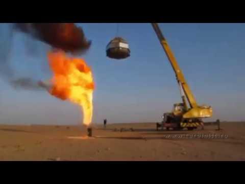 Как тушат фонтан нефти