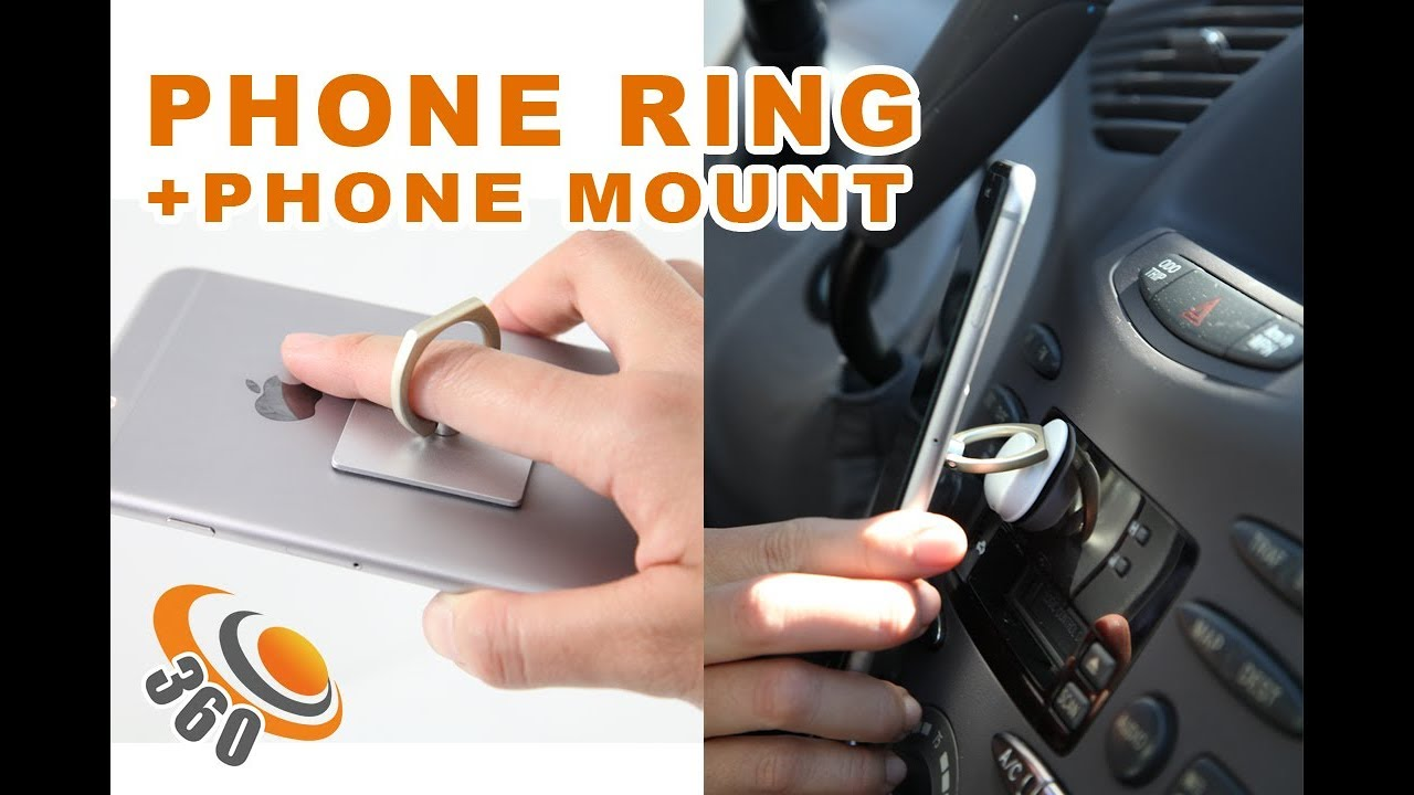 Cellphone Ring Stand Car Mount Hook 360 Degree Pm Frs Iring